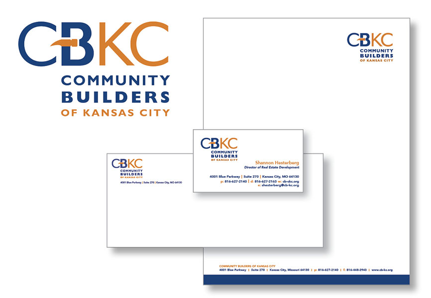 SW Client Community Builders of Kansas City (CBKC) letterhead design